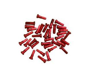 cnSPOKE CN 14mm, Set of 36 Aluminium, Anodized Red, Fixie Bike Spoke Nipples