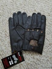 Men's Driving Brown leather Gloves  Size X Large
