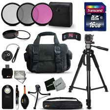 Canon EOS 7D Ideal 21 Piece Accessory Kit w/ 16GB Memory + Case + MORE!