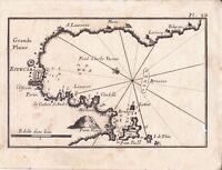 Carte Géographique XVIIIe La Spezia Ligurie Italie Porto Venere Portovenere 1764