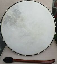 LARGE SHAMANIC FRAME DRUM WITH BEATER ~ NATIVE AMERICAN ~ 38cms