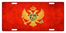 MONTENEGRO Flag Custom License Plate NATIONAL Emblem PAPER Version