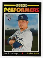2020 Topps Heritage Update #RP-7 YOSHI TSUTSUGO Tampa Bay Rays ROOKIE PERFORMERS