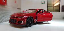 1:24 Escala Rojo Chevrolet Camaro ZL1 2017 Motormax Fundido Modelismo Coche