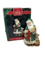 Hallmark Ornament  Merry Olde Santa  Keepsake Collector's Series Bear Horn 1992