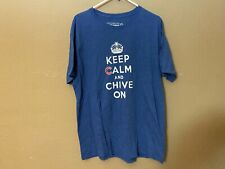 CHIVE NATION CHICAGO CUBS Keep Calm and Chive On T Shirt Size XL