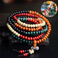 Budismo Tibetano Mala sandalia cuentas de oración 108 cuentas pulsera collar