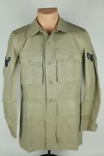 Vintage 1950's Us Air Force 36R Tropical Summer Khaki Lightweight Bush Jacket