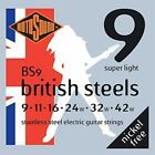 Rotosound BS9 British Steel Electric Guitar Strings (9-42) for sale