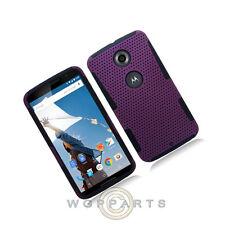 Mesh Case for Nexus 6 Hybrid Purple Cover Shield Protector Shell Guard