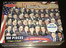NEW SEALED Melissa & Doug Presidents Of The United States 100 Piece Puzzle USA