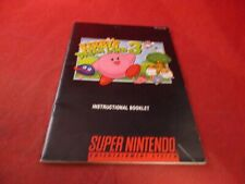 Kirby's Dream Land 3 Super Nintendo SNES Instruction Manual Booklet ONLY