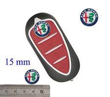 LOGO STEMMA ALFA ROMEO IN ALLUMINIO ADESIVO CHIAVE PER GIULIETTA MITO 15mm A