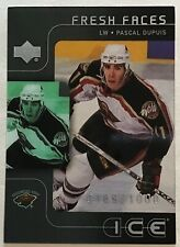 2001-02 PASCAL DUPUIS UPPER DECK ICE FRESH FACES ROOKIE #140 WILD #0189/1000