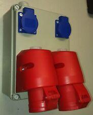 Stromverteiler,Wandverteiler 2x Schuko ,1x CEE16A + 1x CEE 32A Steckdose 5 polig