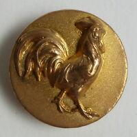 Bouton ancien - Laiton doré - Coq - 22 mm - Animal Designs Button