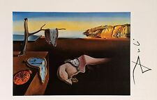 SALVADOR DALI HAND SIGNED SIGNATURE * THE PERSISTENCE OF ... *  PRINT W/ C.O.A.