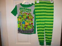 Teenage Muntant Ninja Turtle TMNT 2 Piece Long Pajama PJ Boys Size 3T NWT