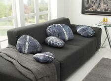 Steinkissen Designkissen Flußstein Kiesel Dekokissen Stone Pillow  5 Stück !