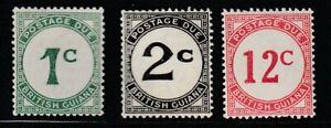Br. Guiana  1940-55   Sc # J1-4(3v.)   VLH   OG   $23   (55260)