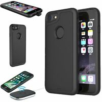 Qi Wireless Ladegerät Charging Empfänger Hülle Cover For iPhone 7 7 Plus Schwarz