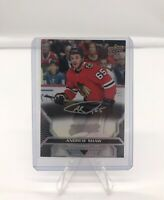 2020 Andrew Shaw Super Silver Script 10/25 Upper Deck MVP Hockey Card No.24