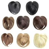 Silky Clip-On Hair Topper Short Straight Hair Wig Full Wigs A9K3
