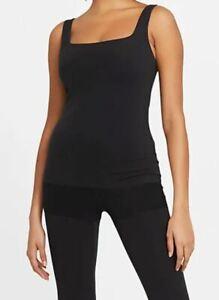 Nike Yoga Luxe Infalon Dri-Fit Shelf-Bra Tank Women's Size M Black DA0723-010