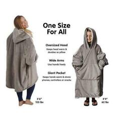Huggle Hoodie oversized super-comfy fleece blanket wear hoodie TV sofa blanke