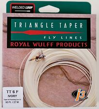 Royal Wulff Triangle Taper 6 WT Floating Fly Line Ivory Free Fast Shipping TT6F