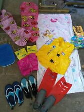 Swimming Pool beach fun kit swim vest rings water help blow up lilo shoes 34 35