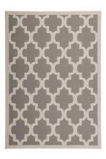 poil ras Tapis Arabesque Tapis rétro nordique SCANDIC gris argent 80x150 cm