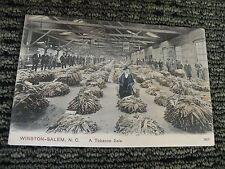 vintage postcard winston-salem nc inside warehouse tobacco sale earlybird sale