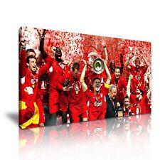 Steven Gerrard Liverpool CAMPEONES DE LONA pared arte Foto impresión 60x30cm