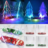 LED Acrylic 3D Christmas Tree DIY Kit Electronic Learning Kits Party Decor