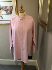 Ralph Lauren Pink Camisa 15.5 Collar