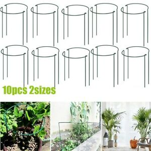 10PCS Half Round Metal Garden Bow Plant Supports For Peonies/Hydrangea/Roses
