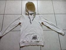 Stretch Sweat Shirt mit Kapuze, TCM, weiß mit Muster, gr. 36/38