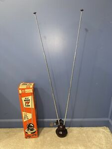 Vintage w/ Box 1950s Snyder Adjustable Atomic TV Television Antenna Rabbit Ears