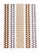 Cleopatra-exquisite Golden & Silver Leaves Easy Metal Tattoo Stickers(Cl35)