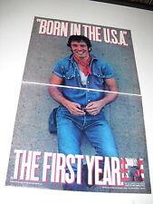 BRUCE SPRINGSTEEN Rare 2 Piece 1985 PROMO AD Born USA