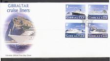 Gibraltar 2005 barcos cruceros// enviar FDC 4v (n15479)