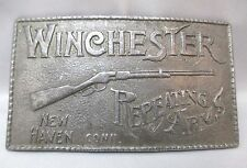 WINCHESTER RIFLE REPEATING ARMS BELT BUCKLE PERSONALIZED ENGRAVED 1976 **