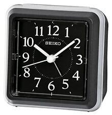 Seiko chevet Ascendant Bip Alarme Horloge - Noir Analogue Qhe090k