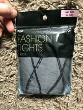 Boots Fashion Tights (Black) One Size Dress Size 8-10 - Brand New