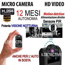 Micro Telecamera spia mini microcamera movimento infrarossi a visione notturna