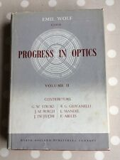 Progress in Optics Edited by Emil Wolf first edition Vol 2 1963