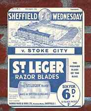 Vintage Tin Sign 1934 Sheffield Wednesday   Programme Metal Sign.