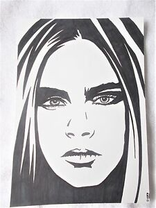 A4 Art Marker Pen Sketch Drawing Actress Model Cara Delevingne C