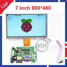 "7"" inch 800*480 TFT LCD Display Driver Board HDMI VGA 2AV for Raspberry Pi 3"